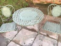 Small Bistro table and two chairs