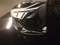 Fox V4 Flight carbon fibre MX motocross helmet with goggles