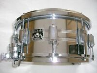 """Tama Imperial Star seamless steel snare drum 14 x 6 1/2"""" - Japan - '80s - Kingbeat style- Mongrel"""