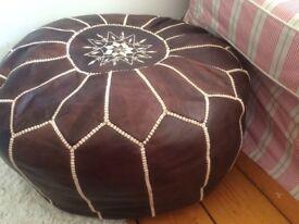 moroccan pouffe large