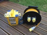 230-110v transformer and 110v extension cable