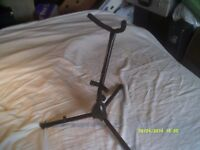 SAXOPHONE STANDS for ALTO/TENOR , FOLD DOWN WHEN NOT in USE ,ONE BLACK & ONE NICKEL