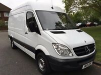 2010 MERCEDES SPRINTER 313 CDI MWB.1 OWNER BRILLIANT DRIVE.FULL HISTORY. E/W. A/C. C/L.BRAND NEW MOT