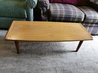 Mid Century Retro Vintage Teak Colour Formica Top Coffee Table