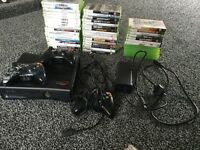 Xbox 360 slim, 46 games + Minecraft and a few others, 3 Controllers