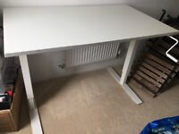 IKEA sit/stand desk and foldable stool