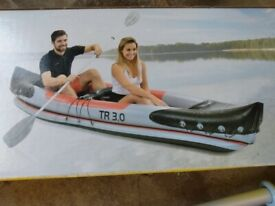 Kayak - Inflatable Kayak - NEW INFLATABLE KAYAK & PADDLE - for 2 people Never Used £40