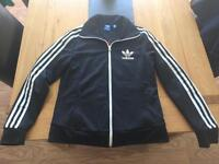 Ladies black Adidas zipper top uk14