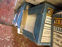 4 x boxes of white wall tiles