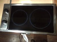 two zone ceramic electric hob in very good condition