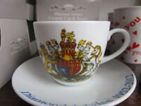 QE11 Diamond Jubilee cup and saucer set