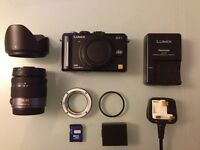 Panasonic GF1 + 14-45 lens + Leica adapter