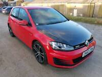 2014 VOLKSWAGON GOLF GTD 2.0 TDI 185 BHP DSG SEMI-AUTO 5 DOOR HATCHBACK RED