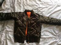 NEW Khaki Green Bomber Jacket Coat Size 8
