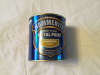 Hammerite Gold Colour Hammered Paint 1 litreDirect to Rust Metal Paint 8 Year Protection