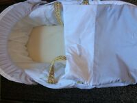 Baby Moses basket as new