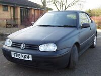 VW Convertible -1.6 SE 2dr (yr1999) 170831 Miles MOT until April 2017 Matt Black