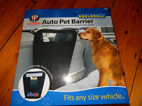 Black Dog Car Travel Auto Pet Barrier Blocks Access To Car Front Seats & Keep Dogs In Back Seat