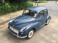 MORRIS MINOR 1967 1.1 EXCELLENT CONDITION TAX EXEMPT 1 YEARS MOT ONLY DONE 63K FROM NEW