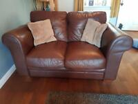 FREE 3 seat, 2 seat and footstool leather sofa