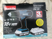 New Makita 18v cordless drill. Complete with charger and batteries.