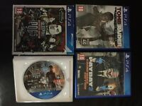 3 PS4 games tomb raider definitive edition, sleeping dogs definitive edition, payday swap other PS4