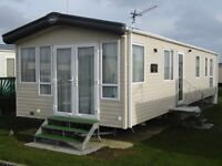 A 8 BERTH 3BEDROOMS 38FT X 12FT PLATINUM CARAVAN FOR HIRE ON BUNN LEISURE SELSEY WEST SUSSEX