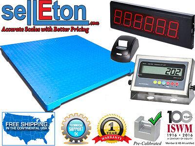 48 X 48 Floor Scale With Printer Scoreboard Warehouse Industrial 1000 X .2