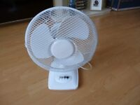 "12"" oscillating fan in white as new collection only from wa5 7xa"