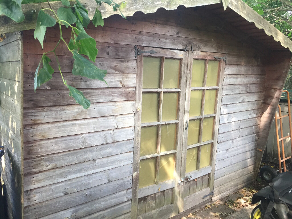 10x8 garden shed chalet style