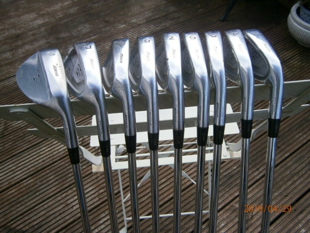 679fd68dcb67 FULL SET OF MIZUNO ZOID IRONS-COMP EZ 3-9 PLUS PW and SW-SHAFTS ARE GOLD  PLUS SENSICORE WITH R400