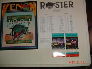 DETROIT VIPERS 1994 FIRST SEASON HOCKEY PROGRAM & 2 TICKET STUBS Windsor Region Ontario image 1