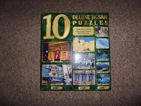 New, unopened set of 10 jigsaw puzzles