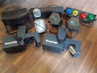 Collection of DJ lights for sale
