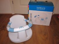 ***Kiddicare bath seat white with box - great condition***