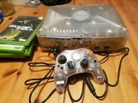 Original xbox crystal with games