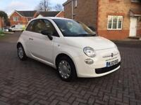2014 FIAT 500 ISG(START/STOP) 12 MONTH , SERVICE HISTORY, TAX £30, MILEAGE 25k, HPI CLEAR 1 OWNER
