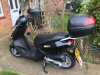 As new 66 plate 100cc moped black ONLY 78 MILES