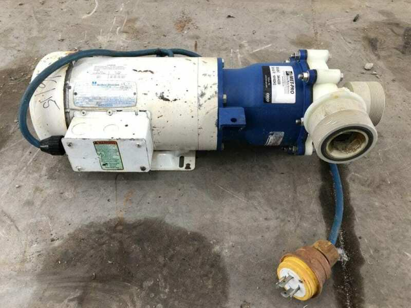 Sethco 344-A330 3HP PP Magnetic Drive Chemical Pump 3450/2850RPM 3PH TEFC