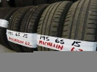 MATCHING SETS 195 65 15 MICHELINS & GOODYEARS 7MM TREAD £80 SET SUPP & FITTED (loads more av} TXT S