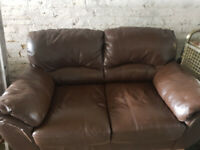 2 seater sofa faux leather in great used condition