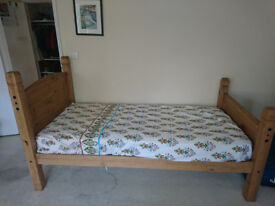 Brand New Single Solid Wood Bed Frame and Mattress combo £130