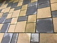 Paving Slabs Grey & Buff Various Sizes x24 pallets