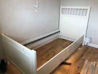 Ikea hernmes white single bed