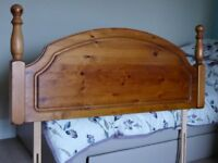 Solid pine double bed sized head board