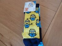 3 pairs despicable me childrens socks