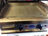 Ace Gas Griddle Fully Ribbed EN343 SR