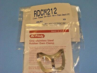 Rubber Dam Clamp No 212 Rdcm212 Hu Friedy