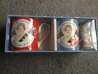 Queen's Diamond Jubilee mug set