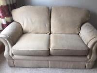 2 seater cream fabric settee